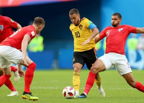 Eden Hazard grabbed Belgium's second as they secured third place.
