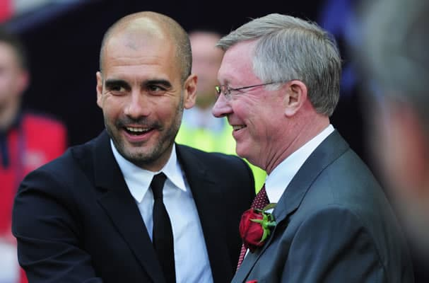 pep guardiola alex ferguson