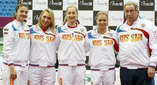 Margarita Gasparyan, Elena Vesnina, Maria Kirilenko, Ekaterina Makarova, Shamil Tarpischev