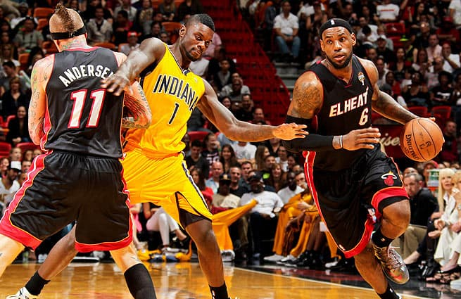 Miami Heat vs Pacers LeBron James