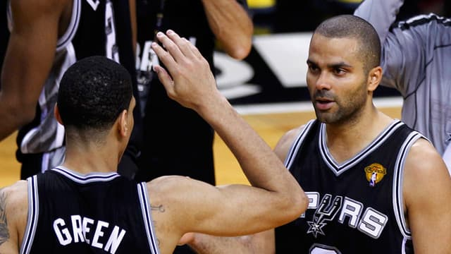 San Antonio Spurs react to victory over Miami Heat in NBA finals Game 1 - video