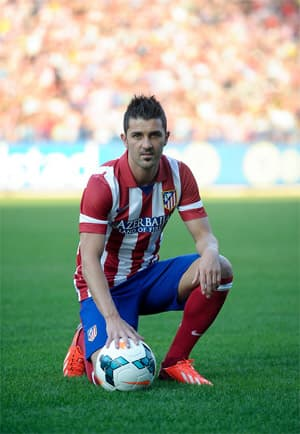 David Villa Champions League Top Goal Scorer