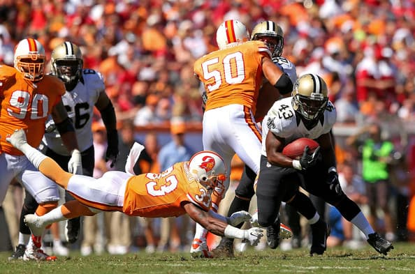 New Orleans Saints at Tampa Bay Buccaneers Betting Odds