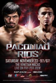 Pacquiao vs Rios betting