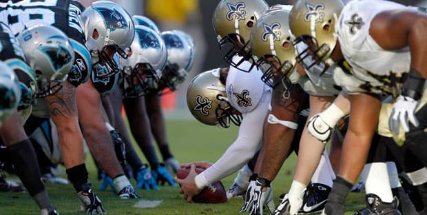 panthers vs saints sunday night football
