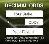 Decimal Odds Counter