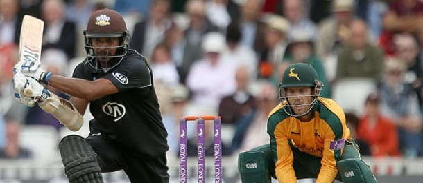 Kumar Sangakkara hit 166 against Notts in the Royal One Day Cup semi-final