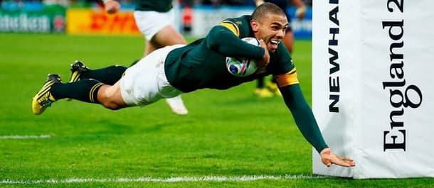 Bryan Habana scored for South Africa in the 64-0 rout of USA