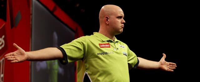 Michael van Gerwen lost out to Robert Thornton in the final of the World Grand Prix.