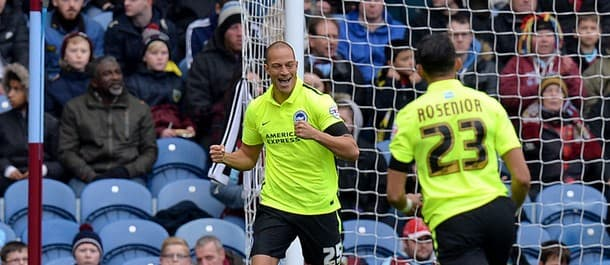 Bobby Zamora opened the scoring in the first minute as Brighton secured a draw at Burnley.