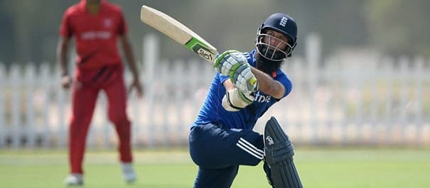 Moeen Ali hit 71 in the one day warm-up match against Hong Kong.