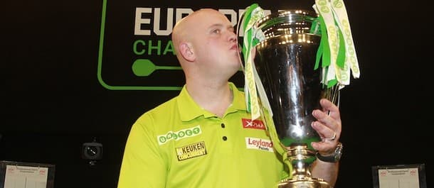 Michael van Gerwen beat Gary Anderson to lift the European Championship.