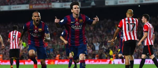 Messi scored his wondergoal against Athletic Bilbao in the Copa del Rey final.