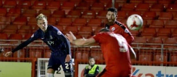 Joe Pigott scored twice in the 3-0 win over Crawley in the last round.