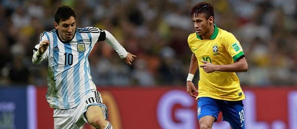 Neymar is fit for Brazil but Messi is still out for Argentina.