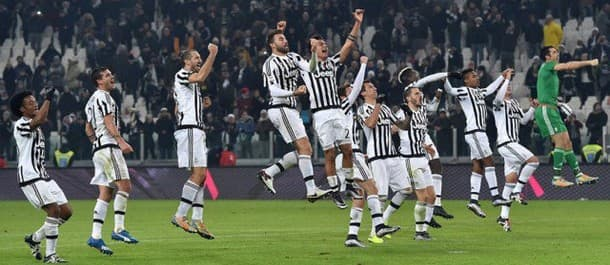 Juventus have won the last five domestic games in a row.