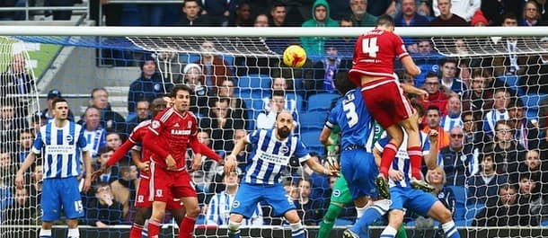 Middlesbrough beat Brighton 3-0 away from home last weekend.