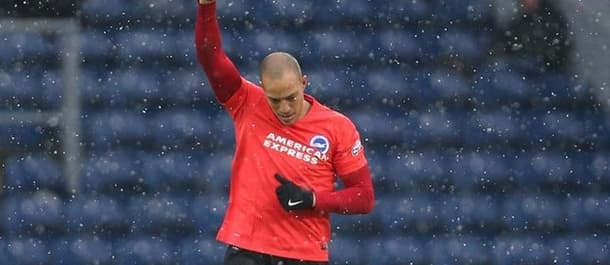 Booby Zamora celebrates his 3rd minute goal for Brighton against Blackburn.