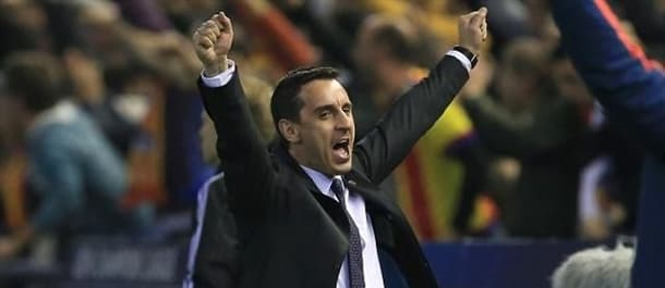 Gary Neville's only win so far as Valencia boss has been in the Copa del Rey.