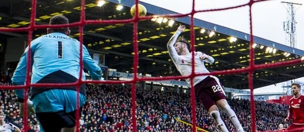 A late penalty for handball was all that separated Hearts and Aberdeen in December.