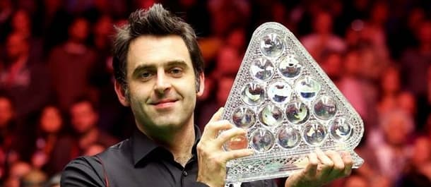 Ronnie O'Sullivan Celebrates Winning the 2014 Masters.