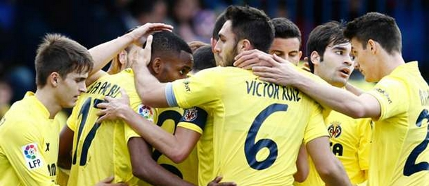 Villarreal celebrate a 2-0 victory over Sporting Gijon in La Liga at the weekend.