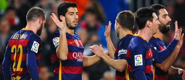 Suarez and Messi grabbed a hat trick each in the 7-0 first leg win.