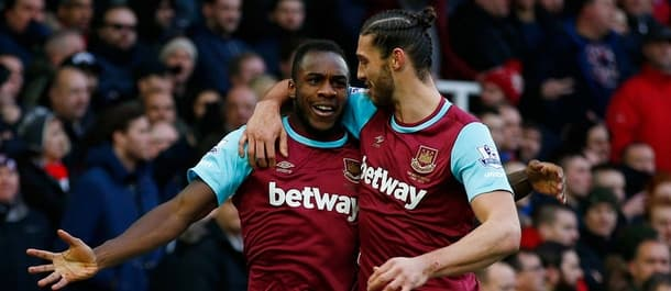 Antonio and Carroll were on target when West Ham beat Liverpool 2-0 in January.