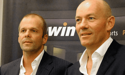 Former bwin execs Norbert Teufelberger (left) and Manfred Bodner in an old publicity shot from the  original Austrian-based sports-betting giant.
