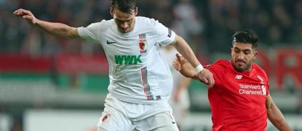 Augsburg were knocked out of the Europa League by Liverpool.
