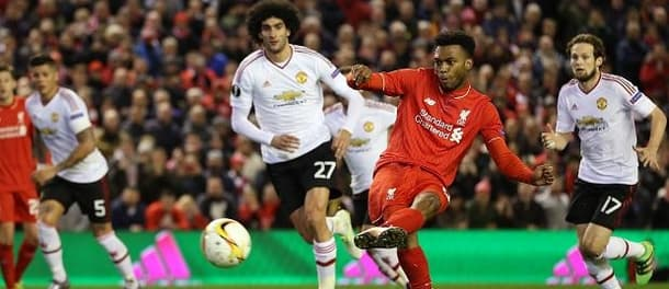Daniel Sturridge scores the first as the much maligned Felliani looks on.
