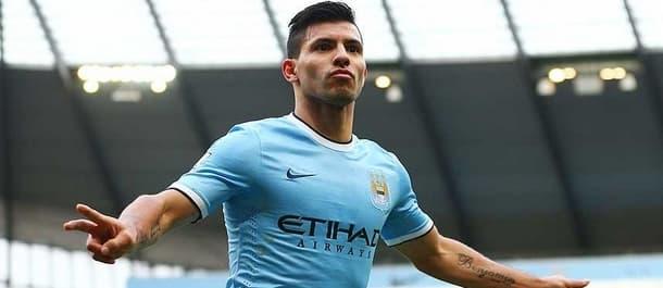Sergio Aguero can ease Manchester City through in the Champions League.