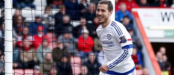 Eden Hazard scored twice as Chelsea beat Bournemouth 4-1 last week.