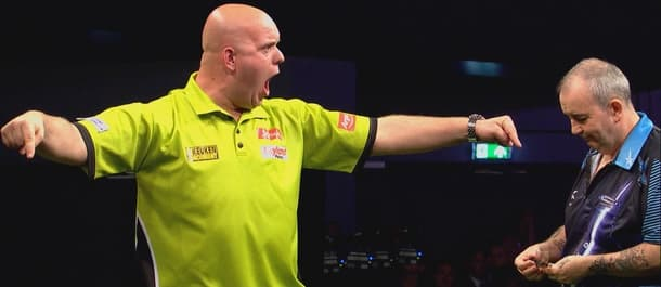 Michael van Gerwen and Phil Taylor could line up for Thursday's final.