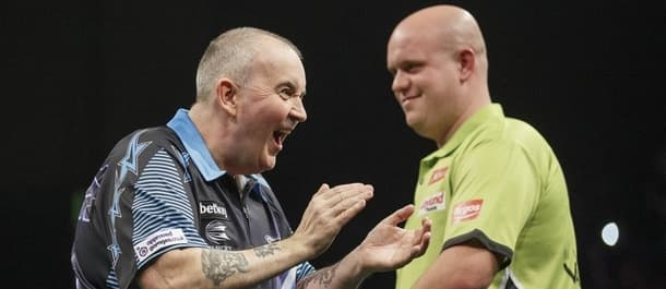Phil Taylor and Michael van Gerwen will battle it out to finish top of the Premier League.