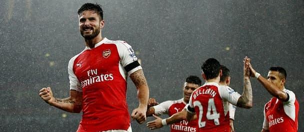 Arsenal beat Man City 2-1 in December.