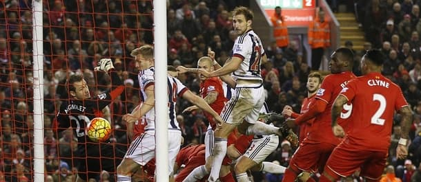 West Brom held Liverpool to a 2-2 draw at Anfield.