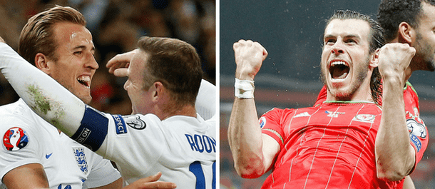 England and Wales meet on Thursday at Euro 2016.