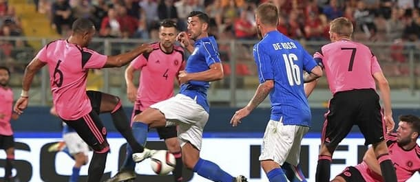 Italy beat Scotland 1-0 in last week's friendly.