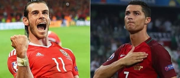Real Madrid teammates Bale and Ronaldo go head-to-head in the Euro 2016 semi final.