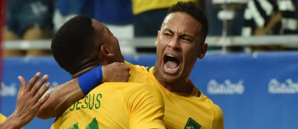 Brazil hit their stride at the Olympics with a 4-0 defeat of Denmark.