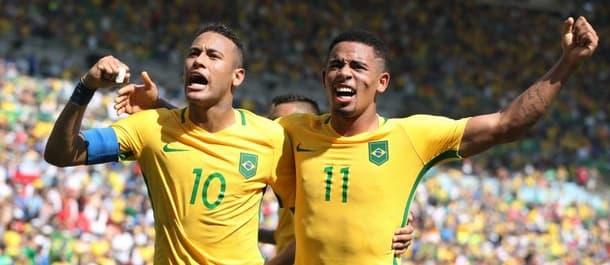 Brazil thrashed Honduras 6-0 in the Olympic semi final.
