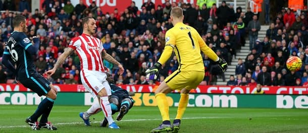 Stoke beat Man City 2-0 at home last year.