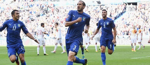 Italy beat Spain 2-0 in the Round of 16 at Euro 2016.