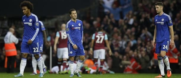 Chelsea were beaten 2-1 by West Ham in the EFL Cup.