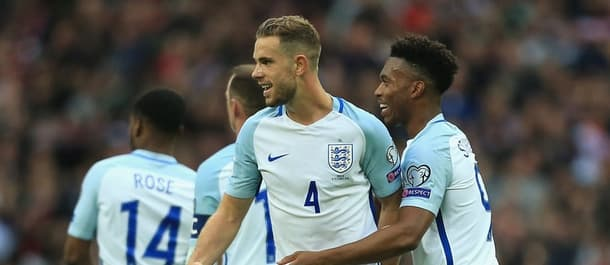 Jordan Henderson could be in line to captain England on Tuesday.