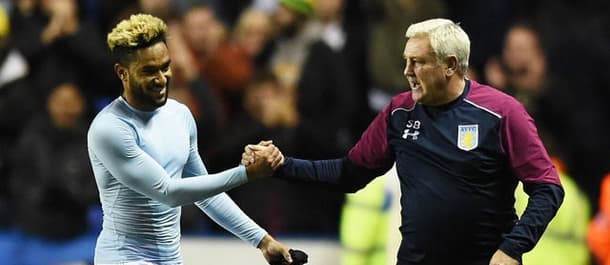 Steve Bruce led Villa to their first away win in over a year at Reading.
