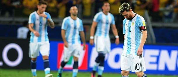 Argentina were beaten 3-0 by Brazil in World Cup qualification.