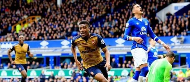 Arsenal beat Everton 2-0 at Goodison last season.
