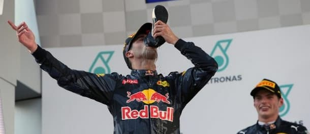 Daniel Ricciardo won the Malaysian Grand Prix in 2016.